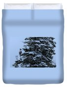 Crows Perch - Snowstorm - Snow - Tree Duvet Cover