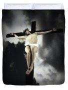 Crucified Christ Duvet Cover
