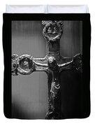 Crucifix Illuminated Duvet Cover