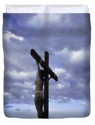 Crucifix In The Light Duvet Cover