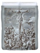Crucifixion Duvet Cover by Johann or Hans von Aachen