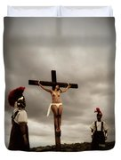 Crucifixion Scene Of Roman Movie Duvet Cover