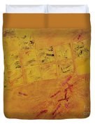 Cruciform In Yellow Recycled Duvet Cover