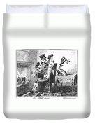 Cruikshank: Headache, 1819 Duvet Cover