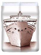 Cruise Ship Duvet Cover