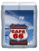 Cruisers Cafe 66 Sign Duvet Cover