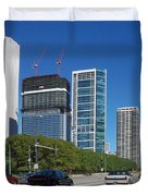 Cruising North On Lake Shore Drive In Chicago Duvet Cover