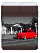 Cruising Route 66 Dwight Il Selective Coloring Digital Art Duvet Cover