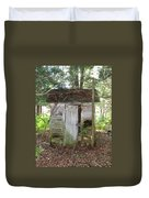 Crumbling Old Outhouse Duvet Cover