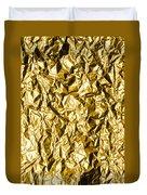 Crumpled Gold Foil Duvet Cover