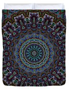 Crushed Blue Velvet Kaleidoscope Duvet Cover