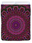 Crushed Pink Velvet Kaleidoscope Duvet Cover