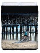 Crusin The Beach Duvet Cover