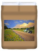 Crusin' The Hill Country In Spring Duvet Cover