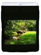 Cruz At Deer Creek Bridge Dwight Il Duvet Cover