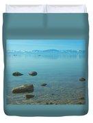 Crystal Clear Lake Tahoe Duvet Cover