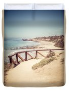 Crystal Cove Overlook Picture Duvet Cover by Paul Velgos