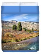 Crystal Creek In The Gros Ventre Duvet Cover