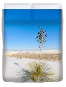 Crystal Dune Tree At White Sands National Monument In New Mexico. Duvet Cover