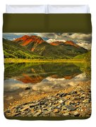 Crystal Lake Reflections Duvet Cover