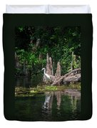 Crystal River Egret Duvet Cover