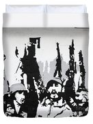 Cuban Revolution Painted On A Wall Duvet Cover