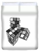 Cubed - Shades Of Grey Duvet Cover