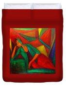 Cubism Contemplation  Duvet Cover