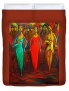 Cubism Dance II Duvet Cover