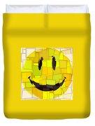 Cubism Smiley Face Duvet Cover