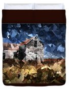 Cubist Abandoned Prairie Farm House Duvet Cover