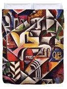 Cubist Cityscape, 1914 Duvet Cover