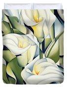 Cubist Lilies Duvet Cover