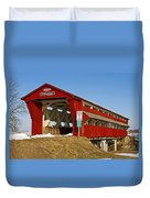 Culbertson Or Treacle Creek Covered Bridge Duvet Cover