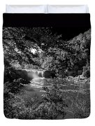 Cumberland Falls Black And White Duvet Cover