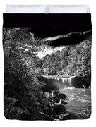 Cumberland Falls Seven Bw Duvet Cover