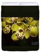 Cumbidium Orchid Duvet Cover