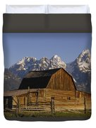 Cunningham Cabin Grand Tetons Wyoming Duvet Cover