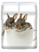 Cup Of Bunnies Duvet Cover