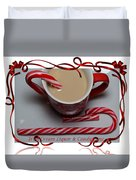 Cup Of Christmas Cheer - Candy Cane - Candy - Irish Cream Liquor Duvet Cover by Barbara Griffin