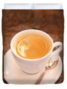 Espresso In White Duvet Cover