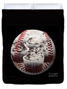 Cupcake Cuties Baseball Square Duvet Cover