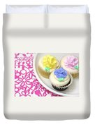 Cupcakes On A Plate Duvet Cover