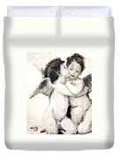Cupid And Psyche By William Bouguereau Duvet Cover