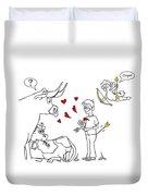 Cupid Valentines Duvet Cover