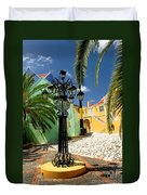 Curacao Colorful Architecture Duvet Cover
