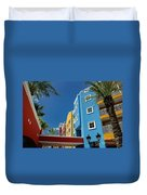 Curacaos Colorful Architecture Duvet Cover