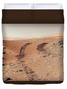 Curiosity Tracks Under The Sun In Mars Duvet Cover