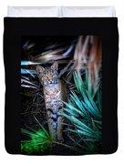 Curious Bobcat Duvet Cover