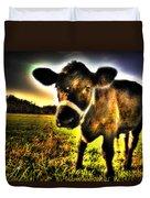 Curious Calf Dark Duvet Cover